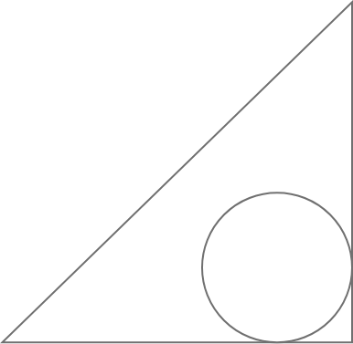 arco shape with a triangle