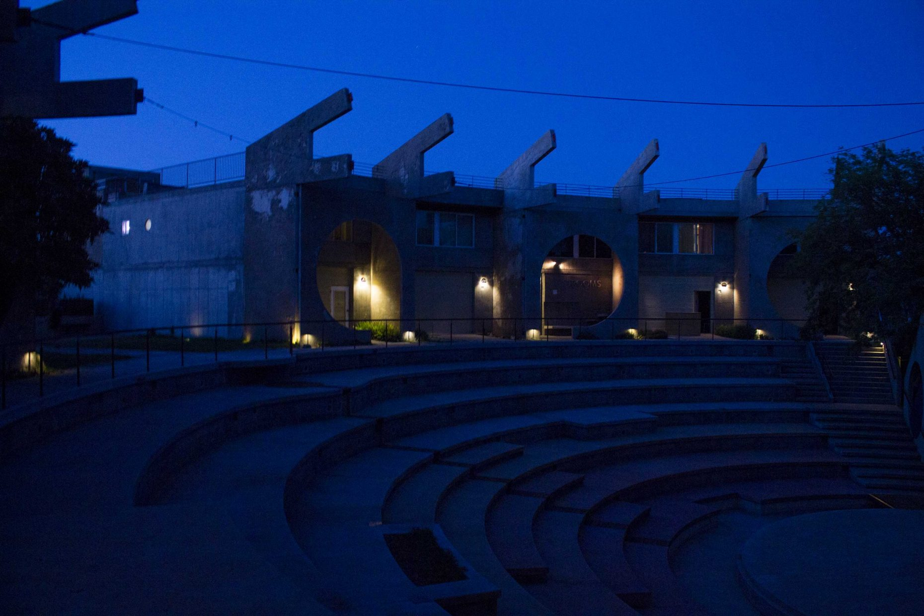 Arcosanti Amphitheater at night