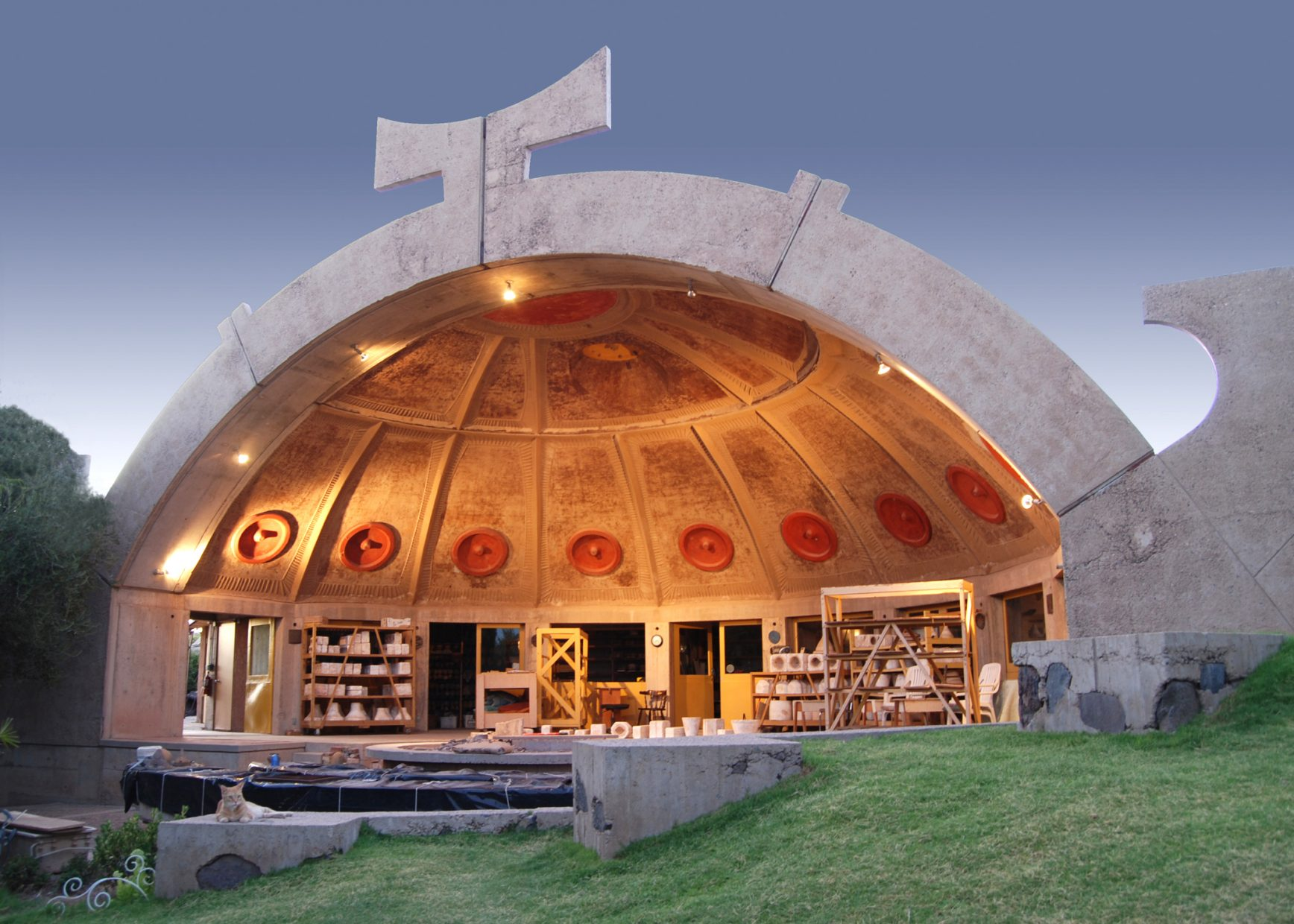 Ceramics Half-dome at Arcosanti