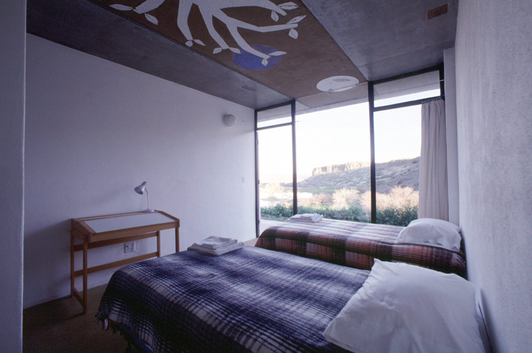 Guest rooms at Arcosanti