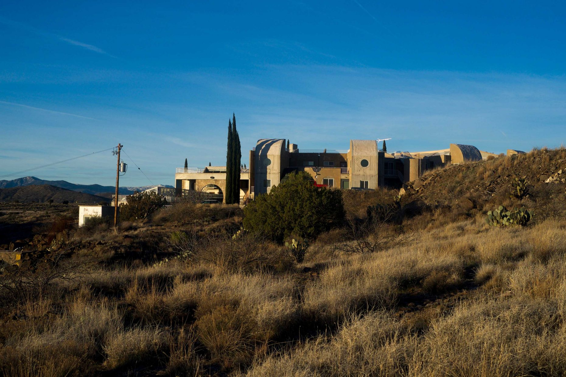 View of Arcosanti Guest Rooms