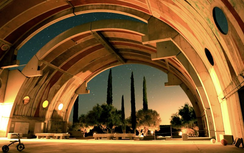 Vaulted structure at Arcosanti