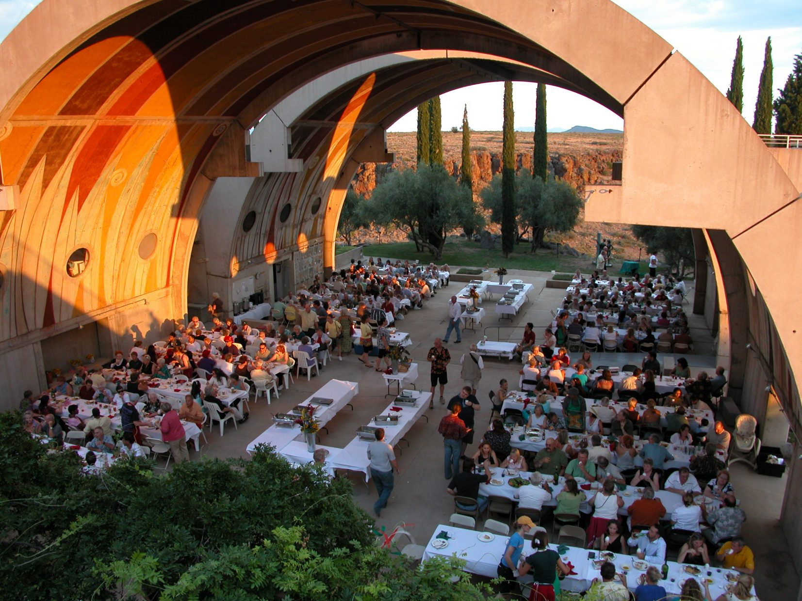 Event under Vaulted Structure at Arcosanti